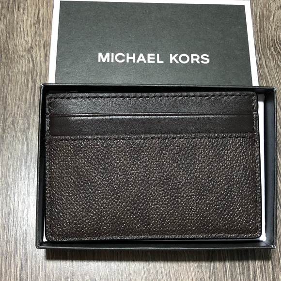 watch 2a42e 877d9 MICHAEL KORS MENS CARD CASE MONEY CLIP NWT